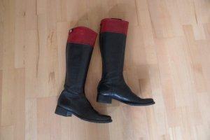 Sehr Schöne Stiefel von Tommy Hilfiger Schwarz/ Rot  Gr. 40 Top.