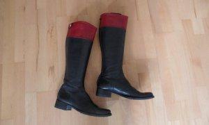 Sehr schöne Stiefel von Tommy Hilfiger Schwarz/rot ,Gr.40 Top