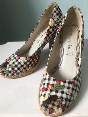 Tamaris Peep Toe Pumps multicolored