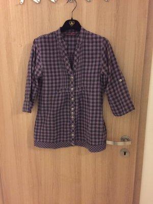 Sehr schöne Tom Tailor Denim Bluse, Farbe: lila/ grau