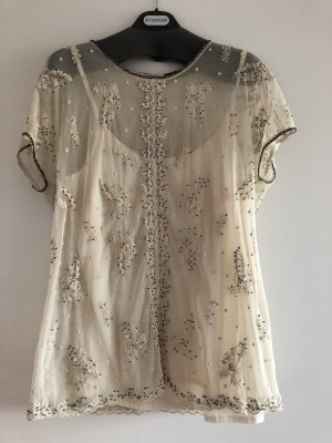 Twin set Blouse transparente beige clair polyester