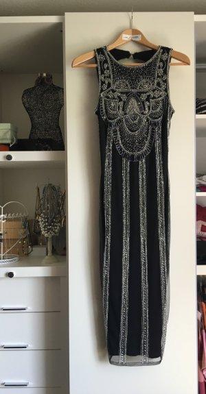 Asos Robe noir-argenté