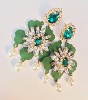 Sehr Schöne Vintage Luxus Statement Ohrringe Oriental Abendkleid Funkeln Extrem Highlight!! Neu