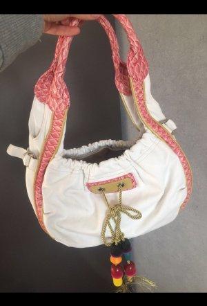 Sehr schöne weiß rosa Tasche