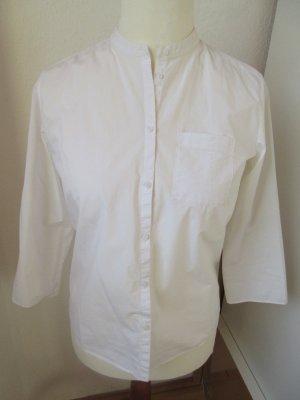 sehr schöne weiße Bluse, gerader Schnitt, clean chic