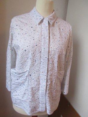Sehr schöne weiße Bluse mit Punkten, Seerzucker