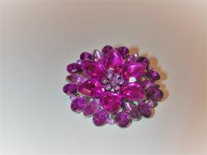 Broche violeta oscuro-color oro