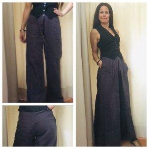 Pantalón de lino gris verdoso
