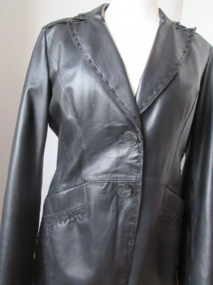 Orwell Leather Coat black leather