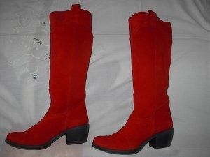 Alba Moda Botas con tacón rojo ladrillo-rojo Cuero
