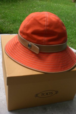 Hermès Hat neon orange cotton