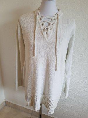 Sehr schöner oversized Pullover von Marc Cain N2 Größe: 38-40 Weiß