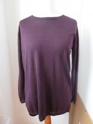 COS Long Sweater purple-bordeaux wool