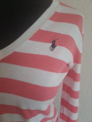 Sehr schöner Pullover von Ralph Lauren rosa Weiß Größe S