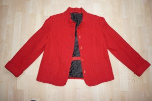 Blazer in lana rosso-nero Lana