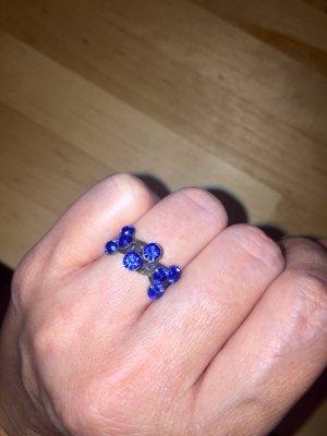 Sehr schöner royalblauer Ring glitzer
