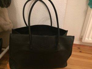 Sehr schöner Tods Shopper feinstes Leder schwarz