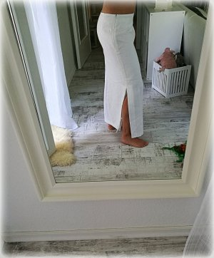 Giorgia Linnen rok wit