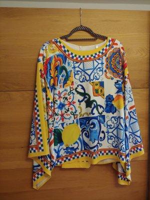 Pantalón tobillero multicolor tejido mezclado