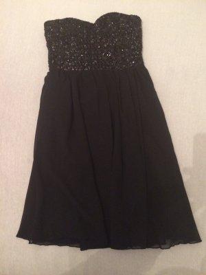 Sehr schönes Abendkleid von Vila in XS schwarzes Kleines mit Pailetten