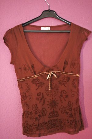 Bershka Mesh Shirt brown