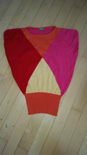 Sehr schönes Frühlingsshirt in pink, orange, rot, gelb von Benetton, Gr. M/40