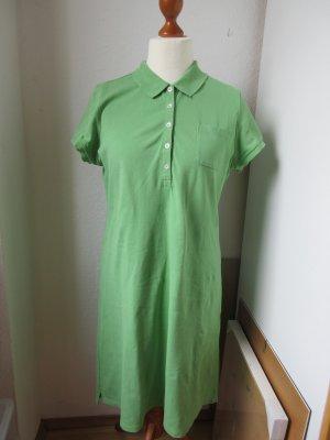Lands' End Vestido tipo polo verde-verde claro Algodón