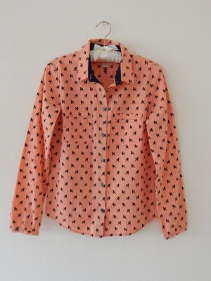 Campus by Marc O'Polo Shirt Blouse orange-black cotton