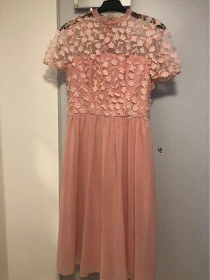 Chi Chi London Chiffon Dress dusky pink