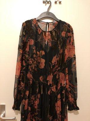Zara Midi Dress black-russet