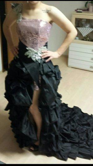 Vestido corsage rosa-negro
