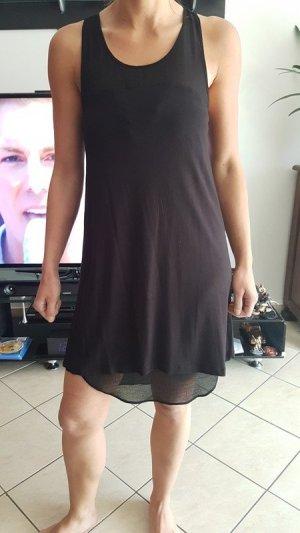Sehr schönes , leichtes Kleid von Mango, tiefschwarz, Transparentes Einsätze Gr S