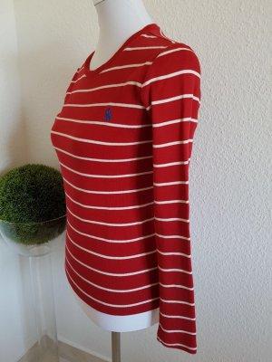 Sehr schönes neuwertiges Shirt von Ralph Lauren Rot-Weiß Größe S