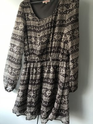Review Hippie Dress dark brown-light brown