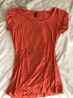 Amisu T-shirt arancio neon-arancione Viscosa