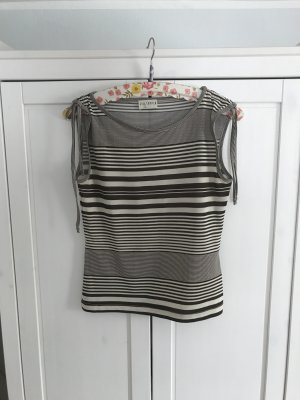 Via Appia Print Shirt natural white-dark brown polyester