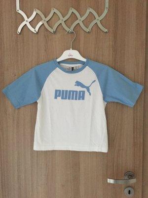 Sehr schönes weiß- hellblaues T-Shirt von der Marke Puma in der Größe S