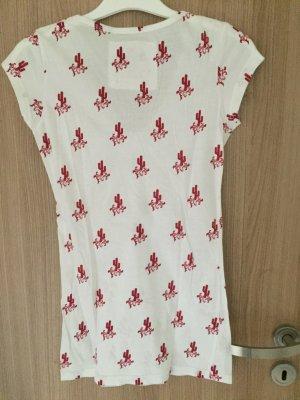Sehr schönes weißes Shirt mit tollen Print, in der Farbe magenta