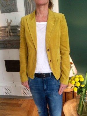 Drykorn Unisex Blazer neon yellow-dark yellow cotton