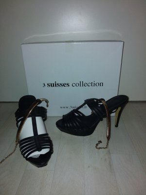 Sehr sexy Sandaletten in Schwarz von 3Suisses Größe 38