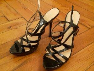 Guess Zapatos de tacón con barra en T negro Cuero
