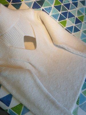 100% Fashion Robe pull blanc cassé