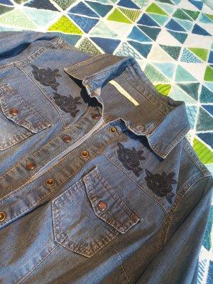 100% Fashion Robe t-shirt bleu acier