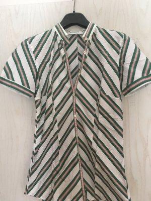 Aglini Short Sleeved Blouse white-green