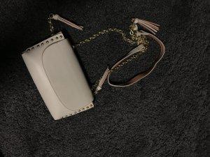 Zara Basic Schoudertas wit-goud