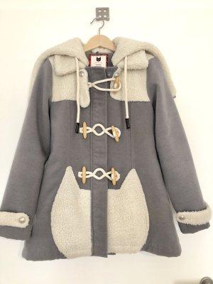 Veste à capuche argenté