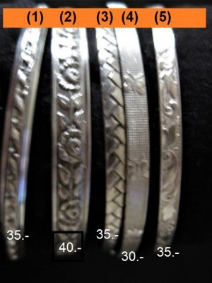 Bangle silver-colored real silver