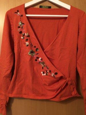 Oilily Cache-cœur en tricot multicolore