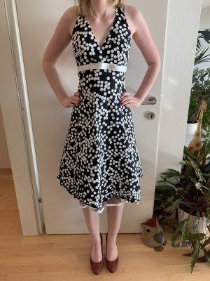 Sixth Sense Vestido de cuello Halter blanco-negro