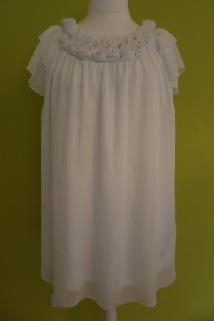 Sehr süßes, weißes Kleid mit Rosen, Größe 46. Auch für Hochzeit/ Hochzeitskleid